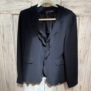 Anne Klein size 10 black crepe jacket